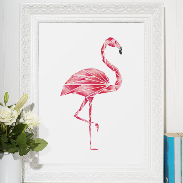 FLAMINGO ART PRINT