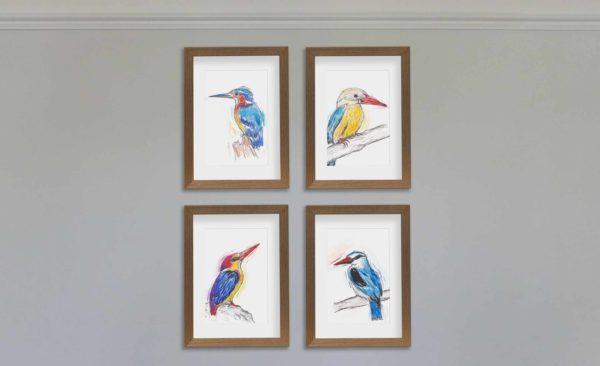 4 kingfishers