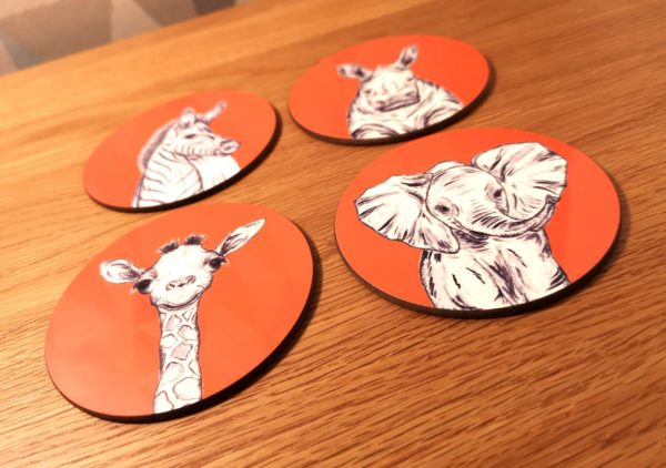 Orange Animals Coasters