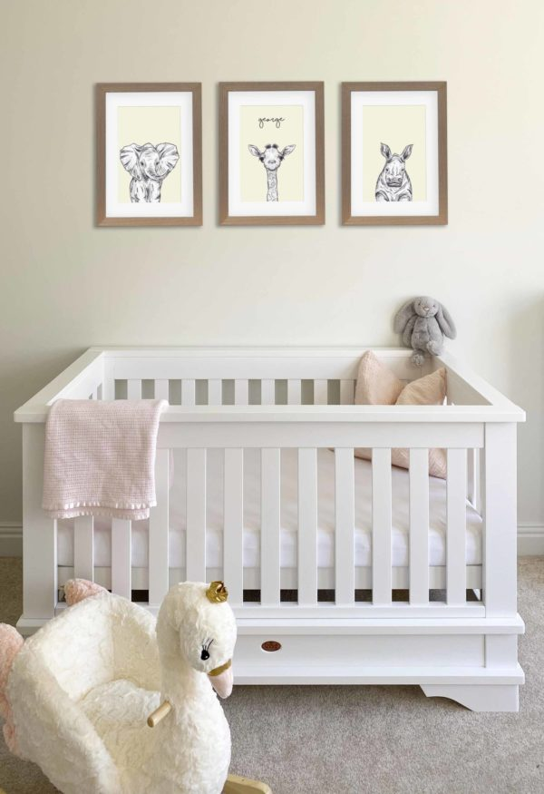 Safari animals nursery art prints