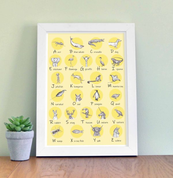 Animal Alphabet - yellow