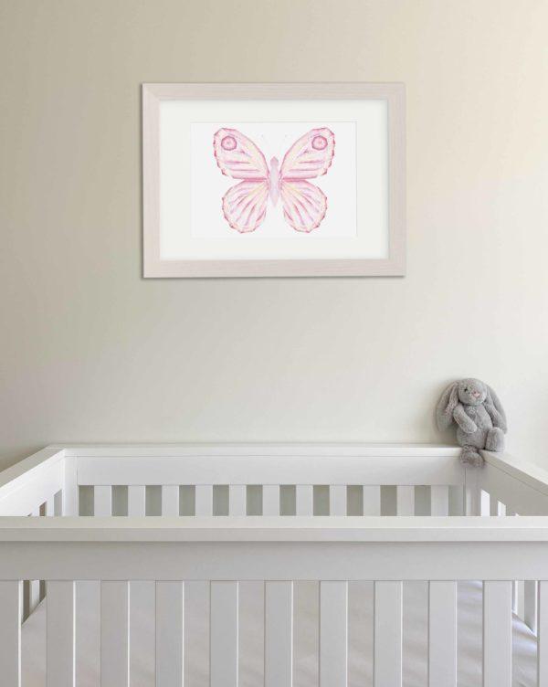 Butterfly print nursery