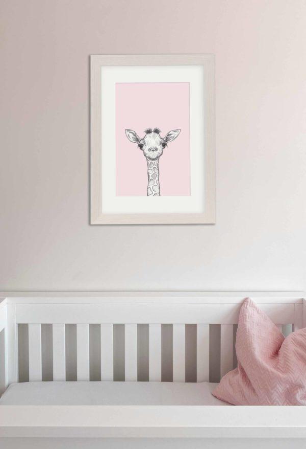 Baby Giraffe nursery art print