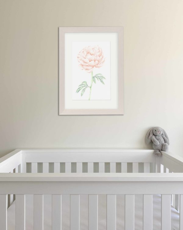 Nursery Peony print