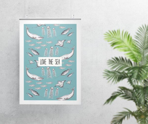 Love the Sea art print
