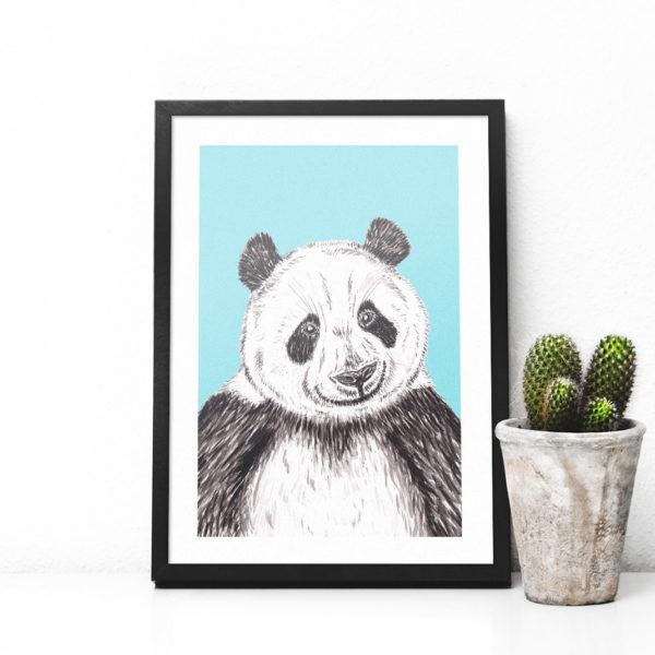 GIANT PANDA PRINT - BLUE