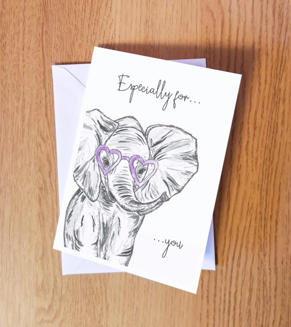 Elephant party greeting card