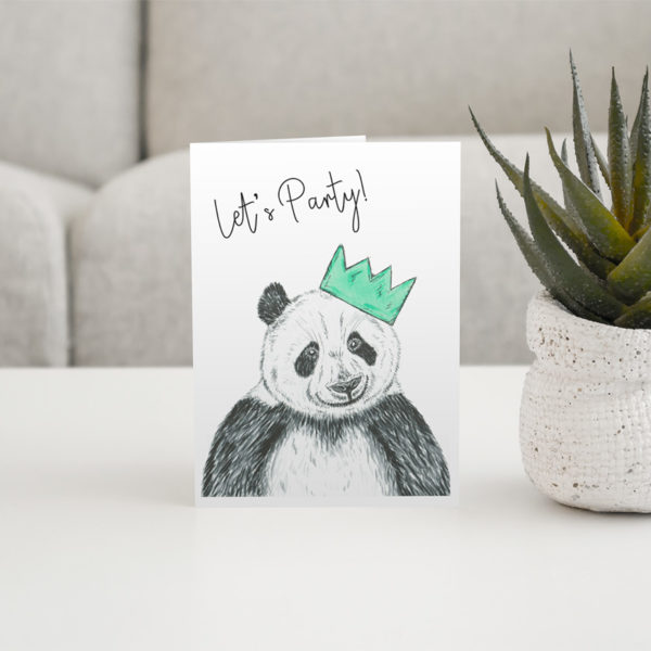 Panda party greeting card