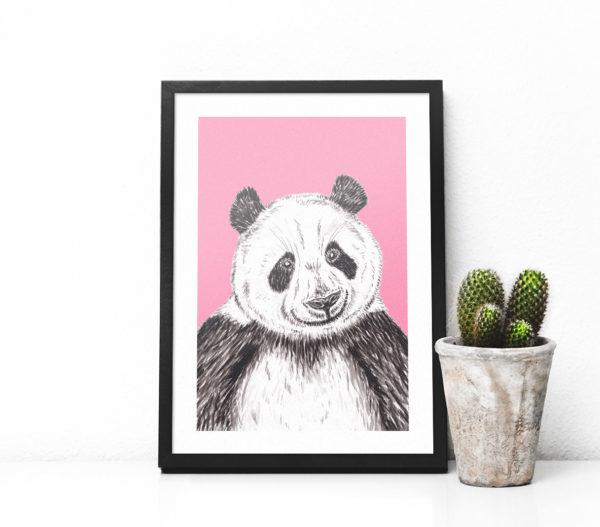 GIANT PANDA PRINT - PINK