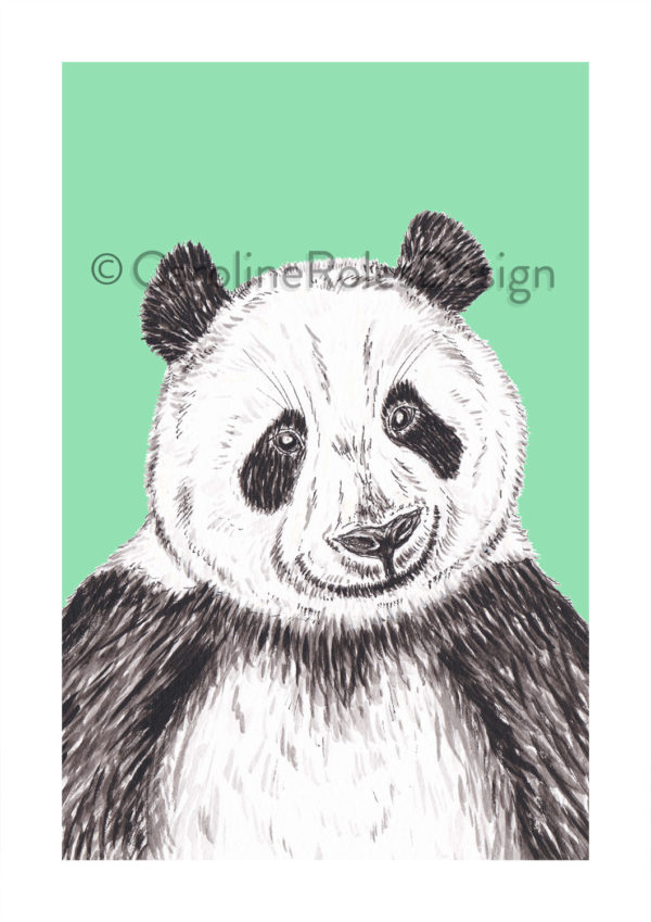 GIANT PANDA PRINT - GREEN