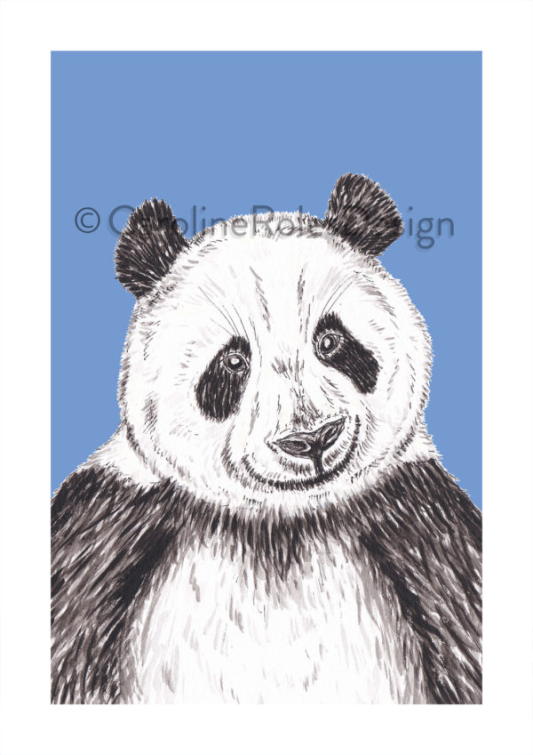 GIANT PANDA PRINT - PURPLE