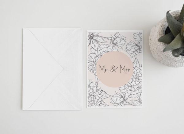 Peony Wedding card