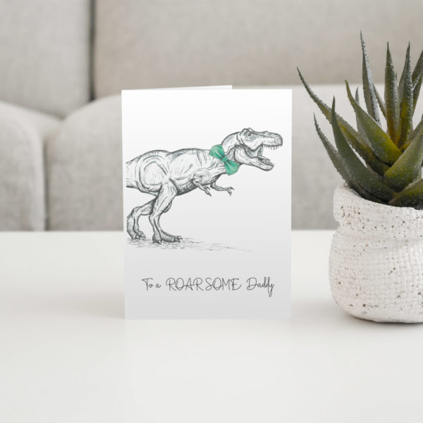 Dino father's day card