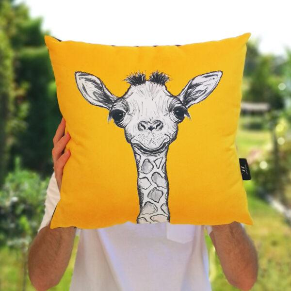 Yellow Giraffe Cushion