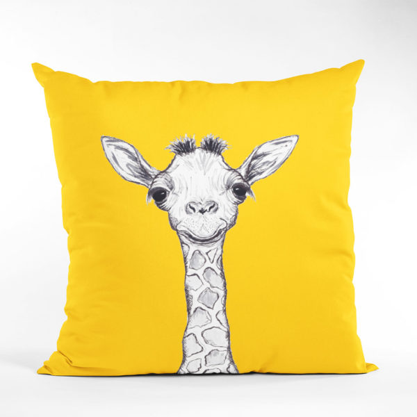 Yellow Giraffe Cushion