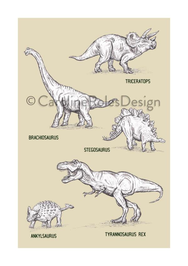 5 Dinos - beige