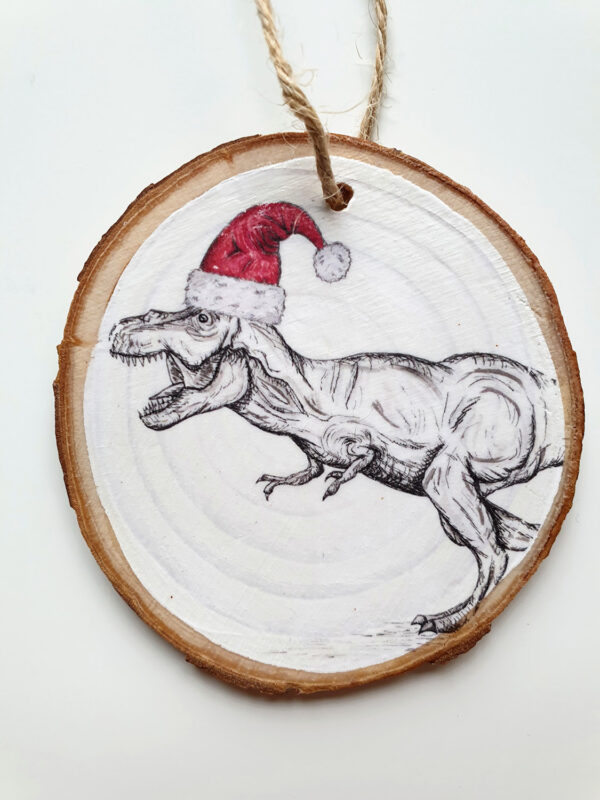 Dino Christmas decoration