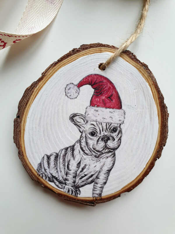 French Bulldog Christmas decoration