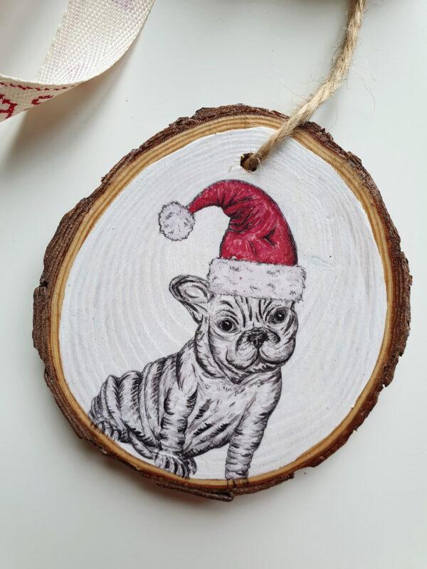 French Bulldog Christmas decoration