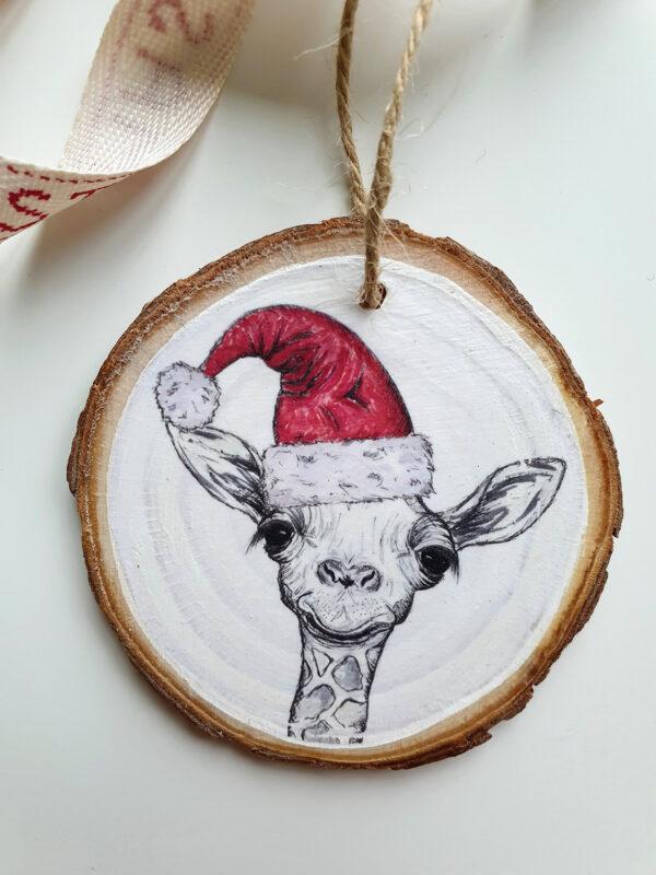 Giraffe Christmas decoration