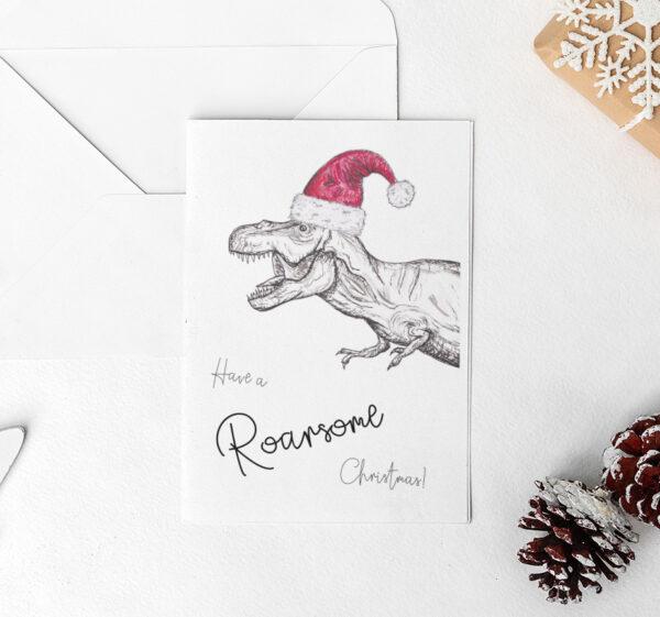 T-Rex Christmas card