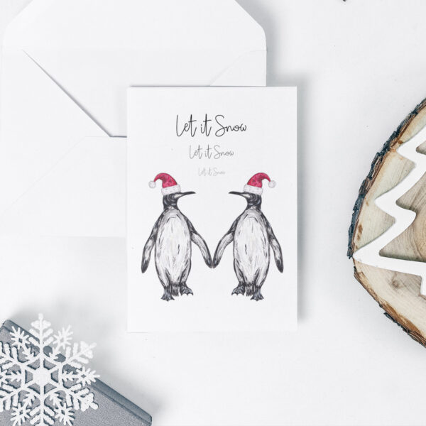 Pair of Penguins Christmas card