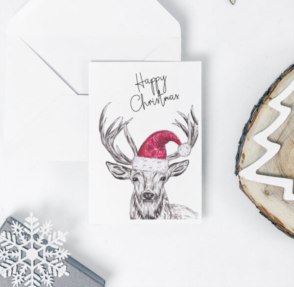Stag Christmas card