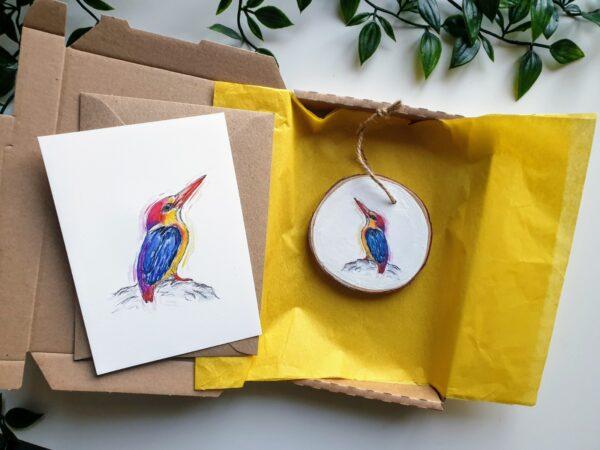 Oriental Dwarf Kingfisher letterbox love
