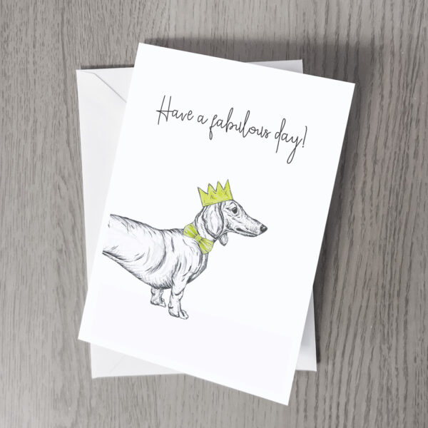 Dachshund party greeting card
