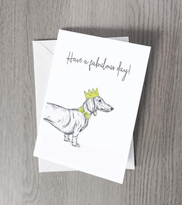 Dachshund party greeting card