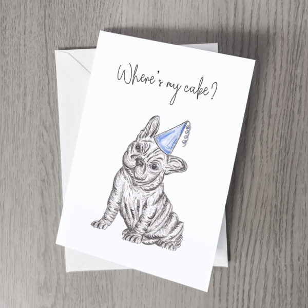 Bulldog party greeting card