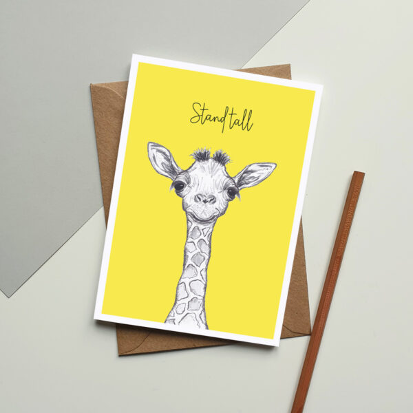 Giraffe stand tall card