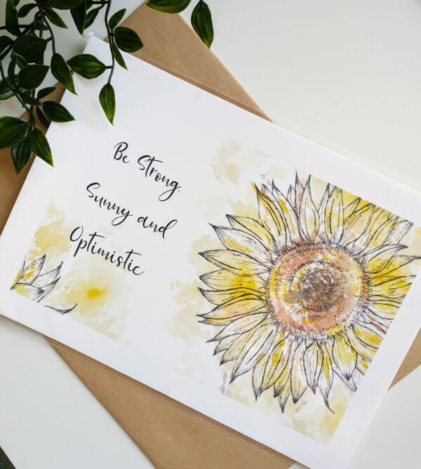 Sunflower quote print