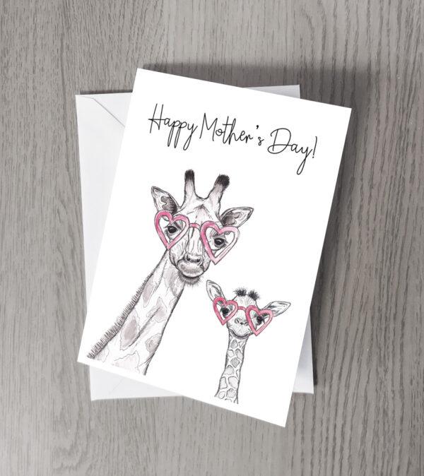 Mother's day Giraffe card