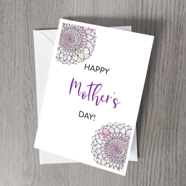 Mother's day dahlia card