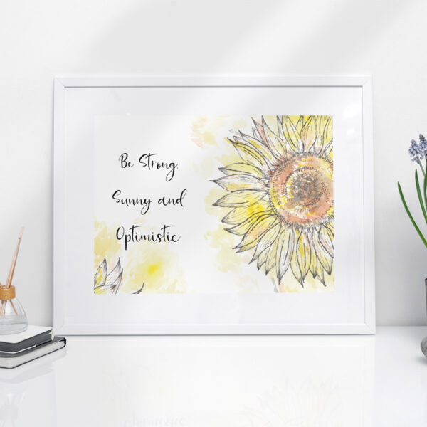 Sunflower quote print