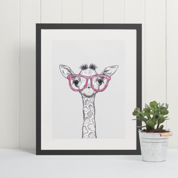 Cool Giraffe art print