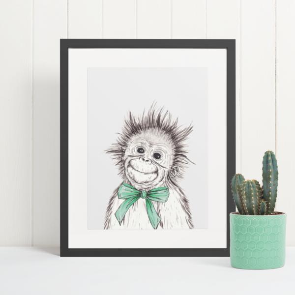 Cute Orangutan art print