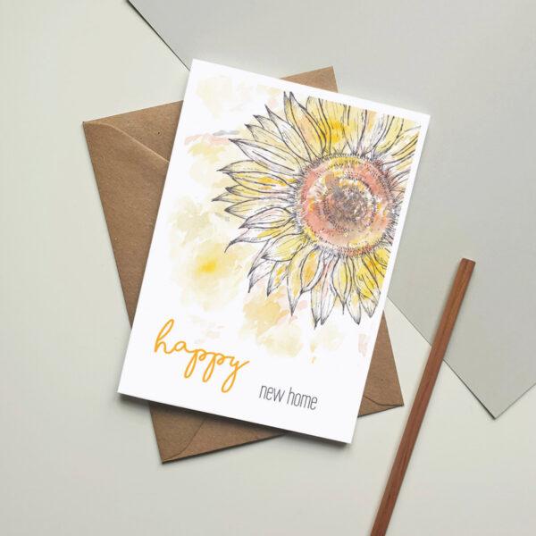 Sunflower new home card
