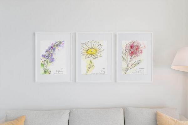 Single stem birth flowers