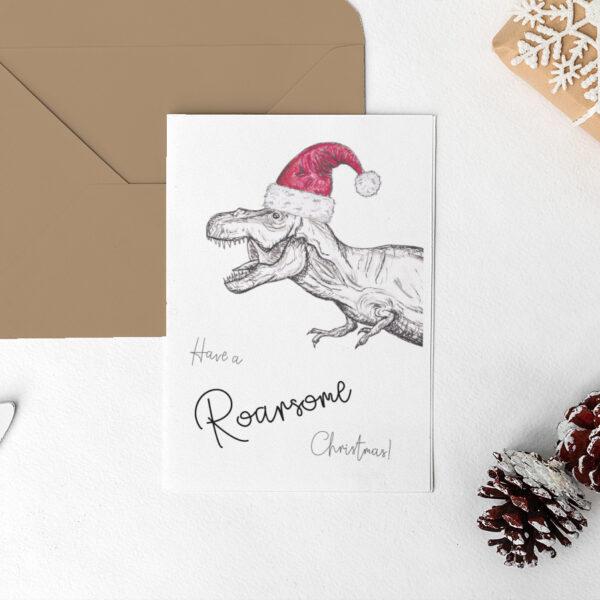 Dinosaur Christmas card