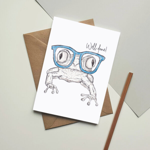 Frog - Well done card