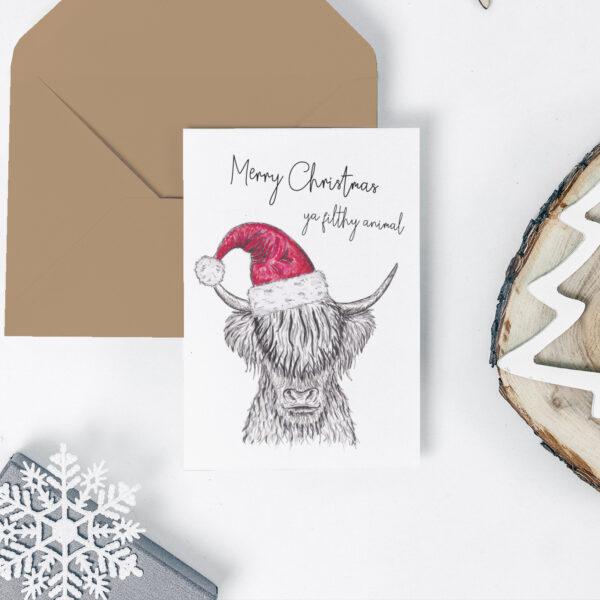 Yak Christmas card