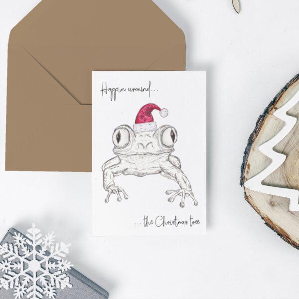 Frog Christmas card